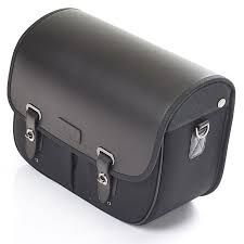 equipaje-triumph-pannier,-waxed-cotton,-lhs,-black
